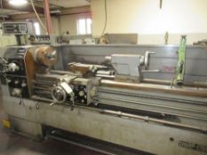 "Sharp 1760K 17"" x 60"" Lathe S/N 72571, 9.5"" 3 Jaw Chuck, Quick Change Toolpost, Steady Rest,"