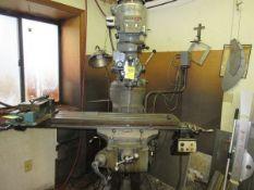 """Bridgeport Series 1 2HP vertical Miller s/n 237402, DRO, 48"""" Power Fed Table"""