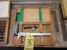 """Mitutoyo 6"""" Height Gage w/ Dial Indicator In Case"""