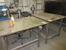 "Lot (2) 36"" x 48"" Steel Tables"