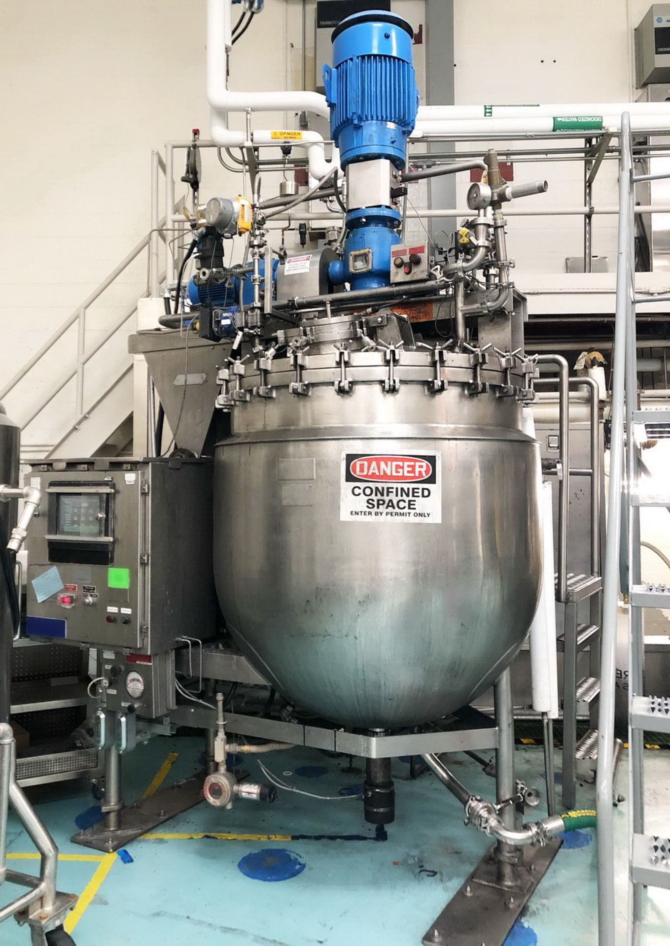 """Lot 4 - Greerco/Gifford Wood 1,000 Liter (250 gal) 316 SS Jacketed Triple Motion """"Agi-Mix"""" Kettle/Reactor"""