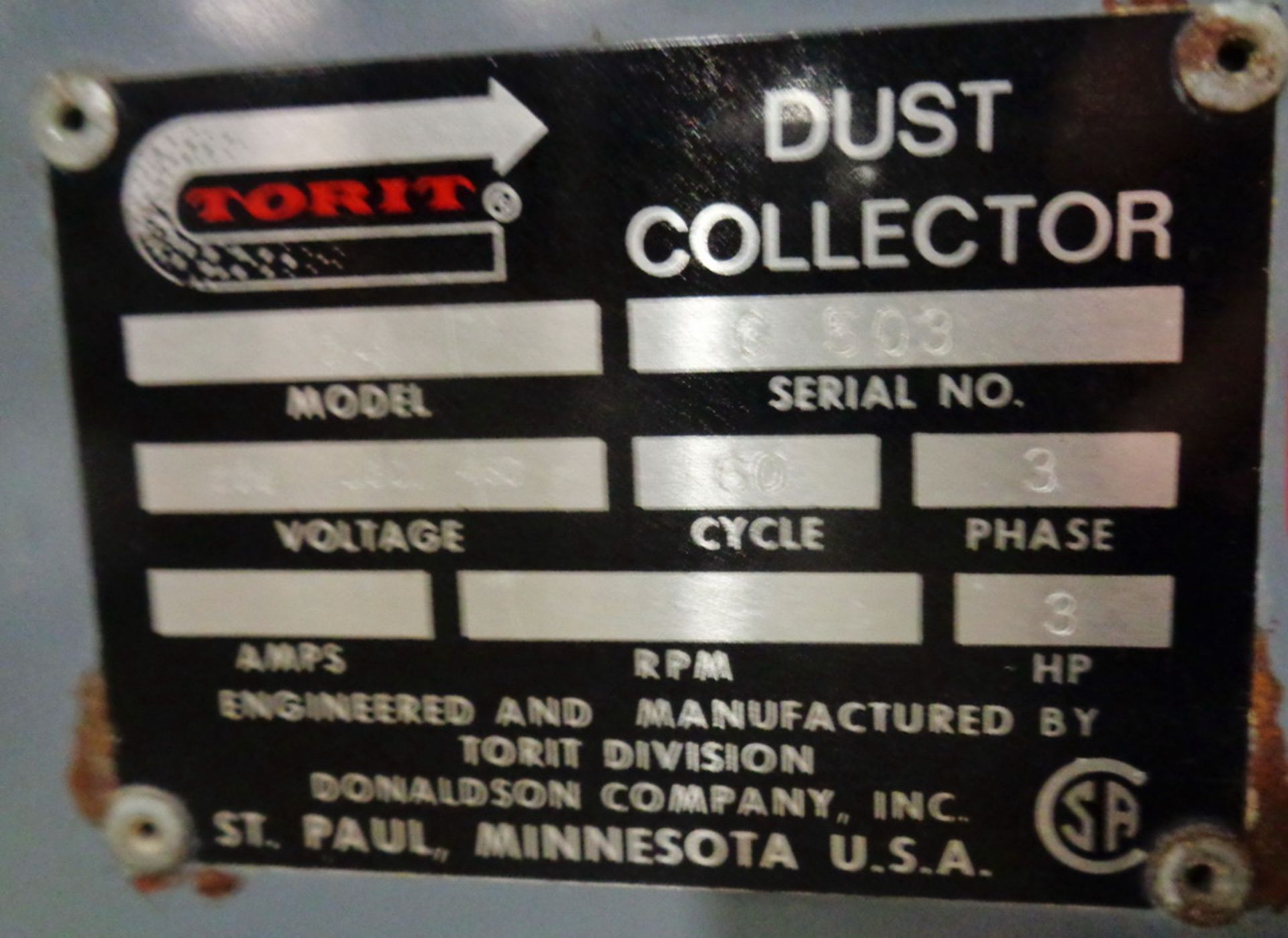 Lot 160 - Torit Cabinet type Dust Collector, Model 84
