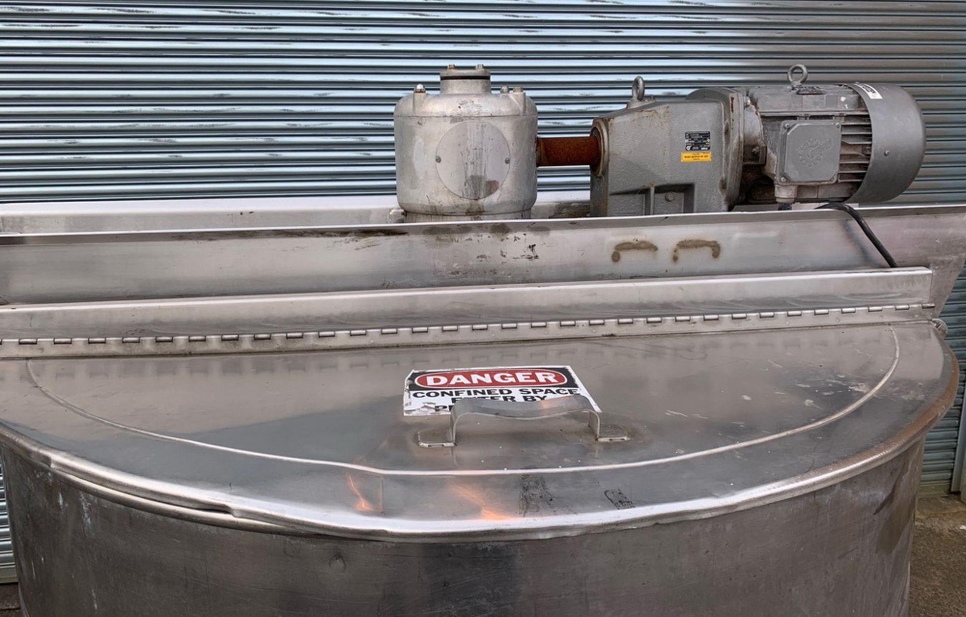 Lot 134 - Hamilton 500 gallon Double Motion Stainless Steel Scraper Kettle