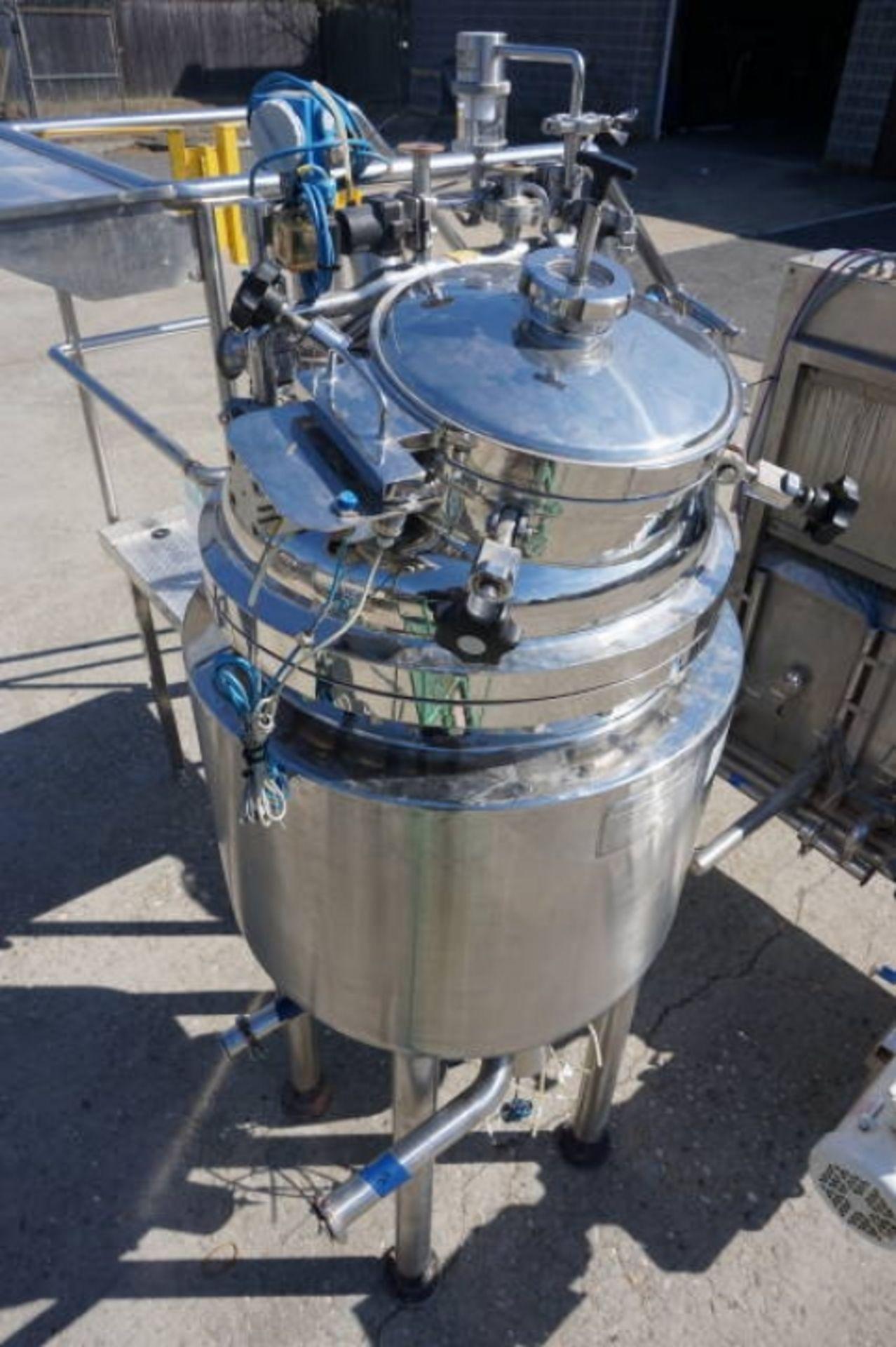 Lot 3 - Krieger approx. 125 Liter Stainless Steel Jacketed Pressure Vessel, S/N 0503-9394