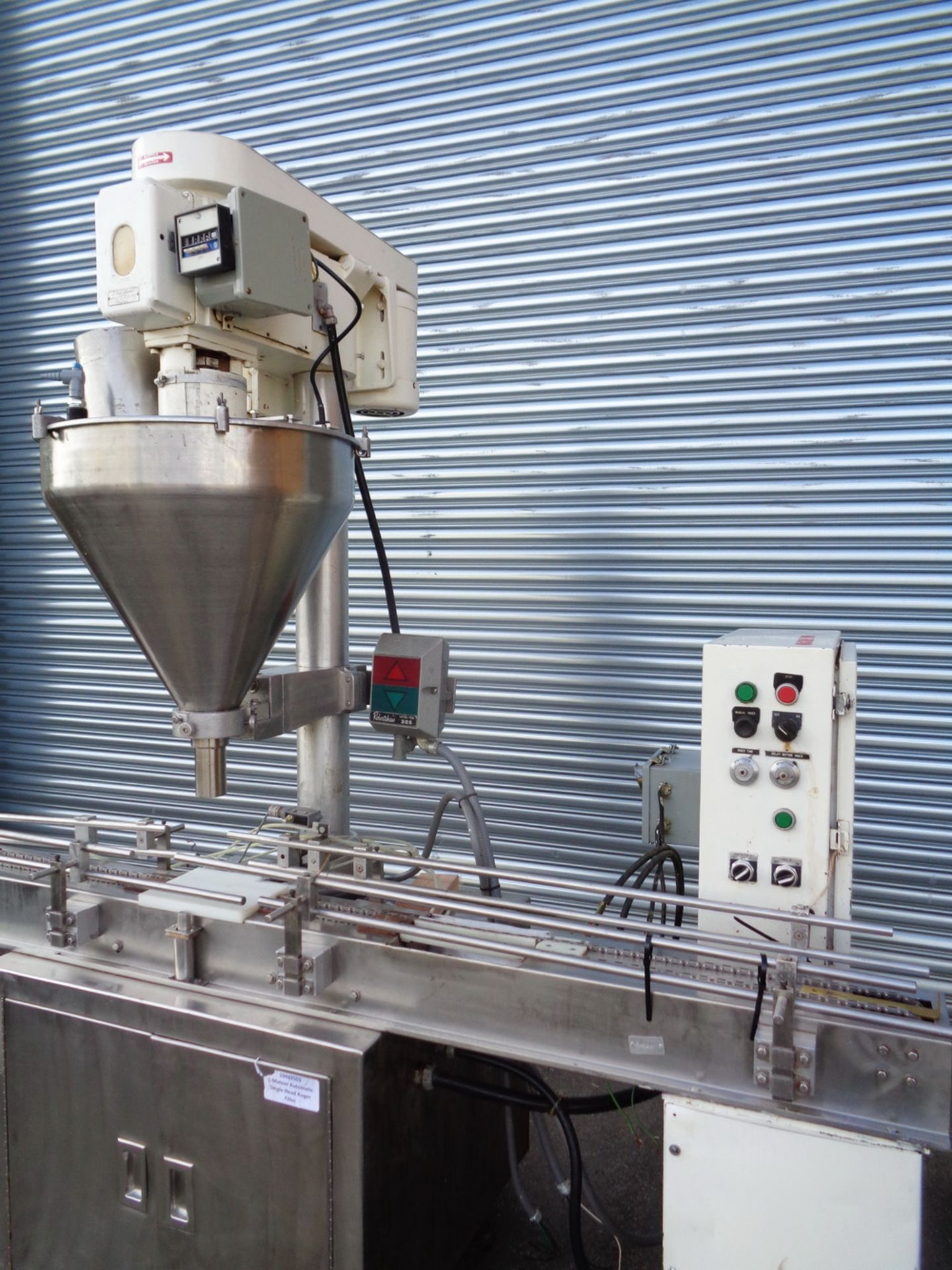 Lot 23 - Mateer Automatic Single Head Auger Filler, Model 33-A, S/N A-467