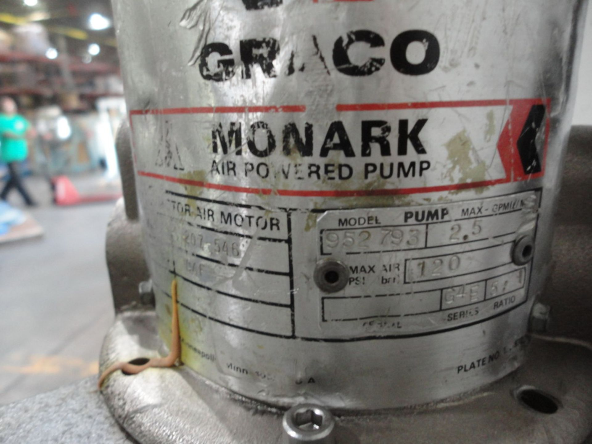 Lot 148 - Graco Air Powered Drum Pump, Model Monarck, Model 207-546