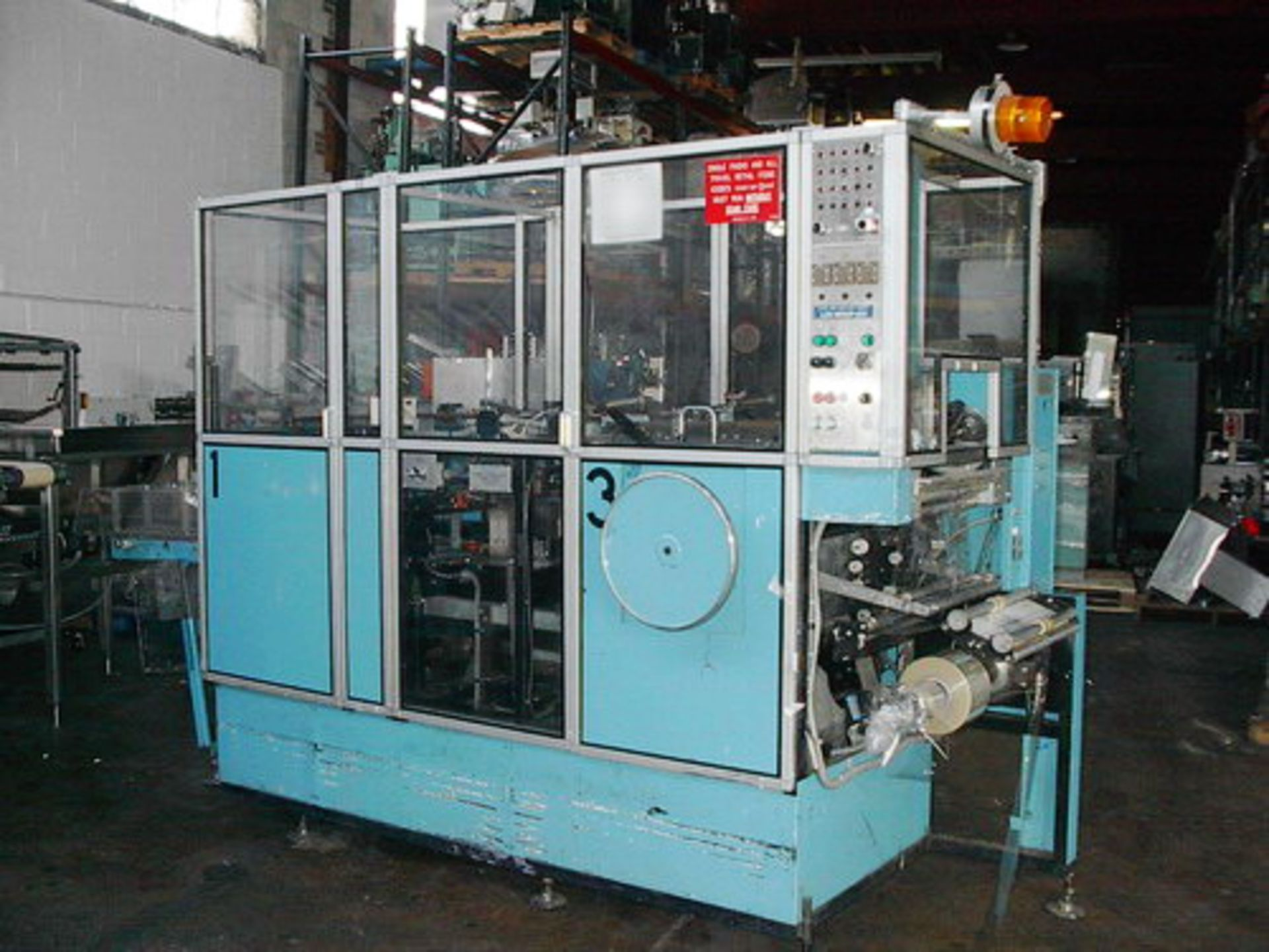 Lot 100 - Marden Edwards Automatic Carton Poly Film Overwrapper, Model 1230-FF8, S/N 4728