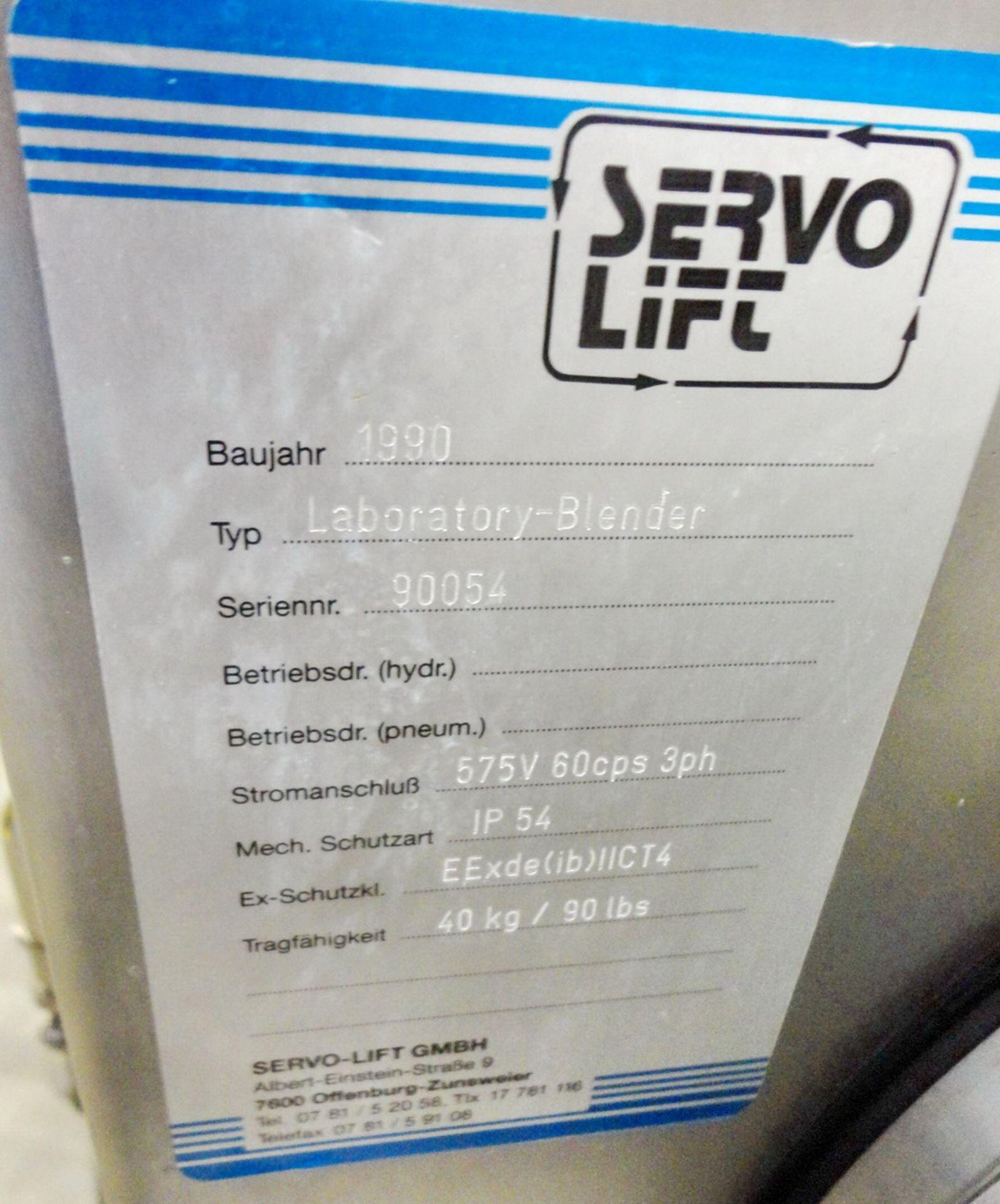 Lot 97 - Servolift Pilot Plant Blender, 40 KG capacity, S/N 90054