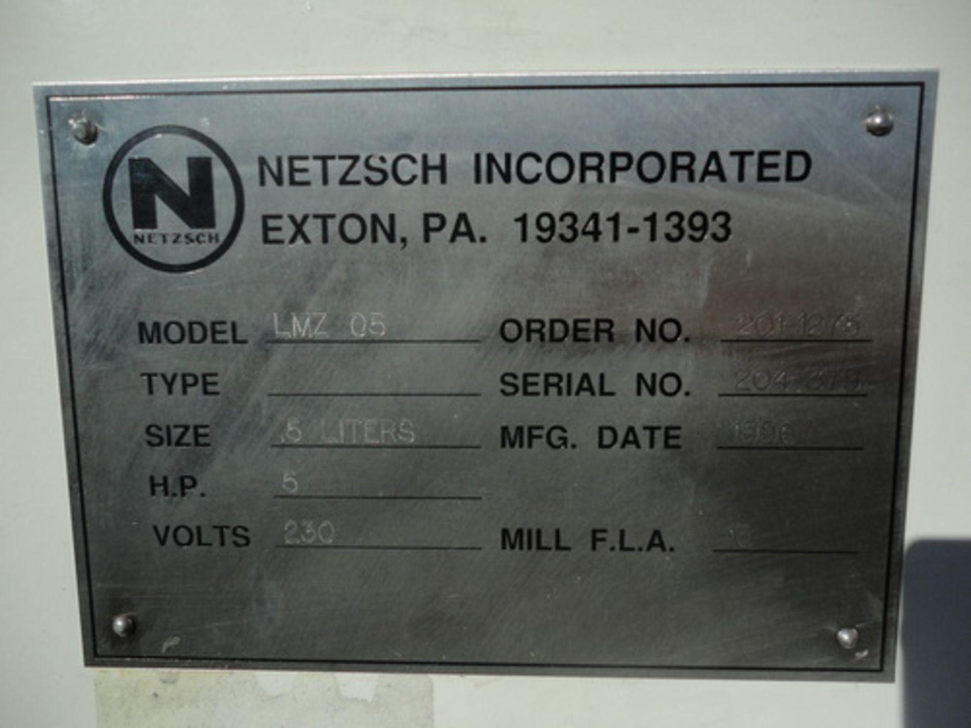 Lot 106 - Netzsch Pilot Horizontal Media Mill, LMZ-05, S/N 204379