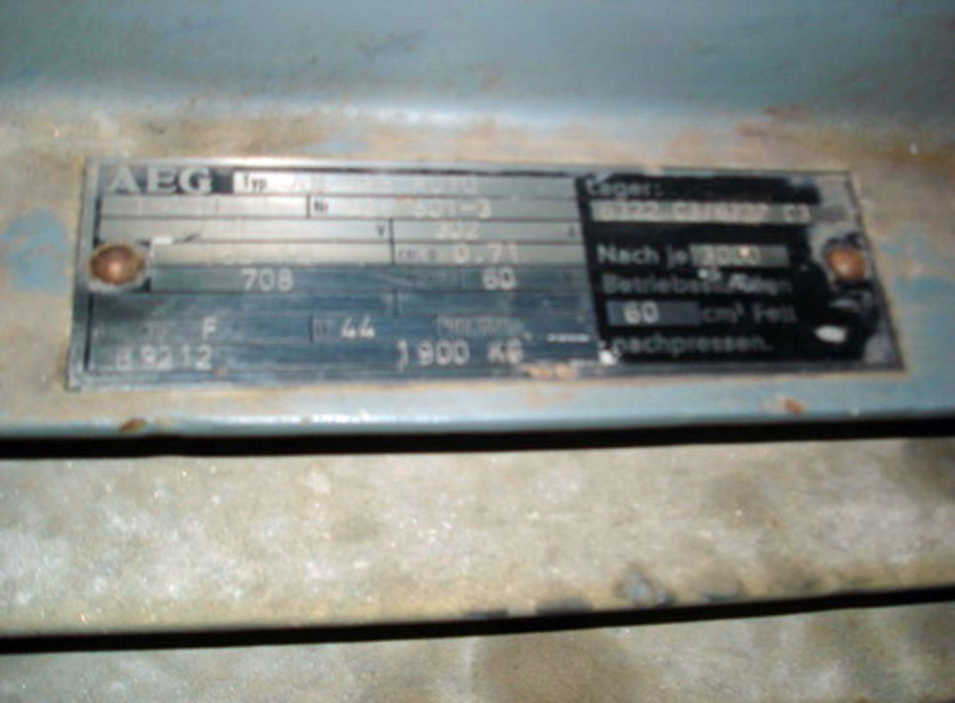 Lot 20 - APV/Rannie Piston Homogenizer, S/N 1-89173