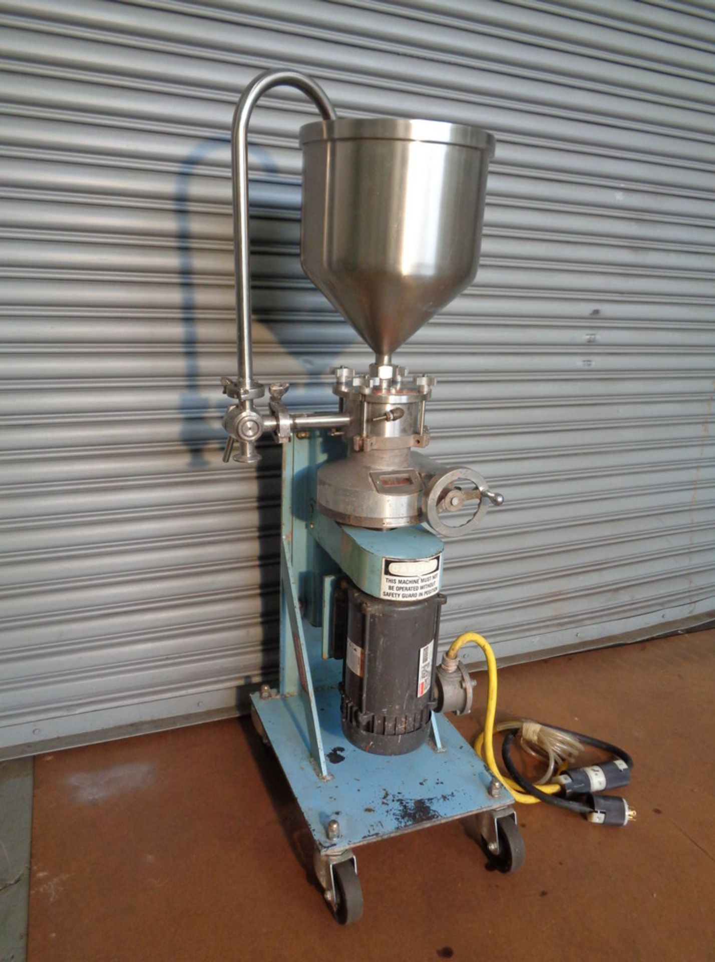 Lot 22 - Greerco 2 HP XP SS Vertical Colloid Mill, Model W250VB, S/N 86-03392596B