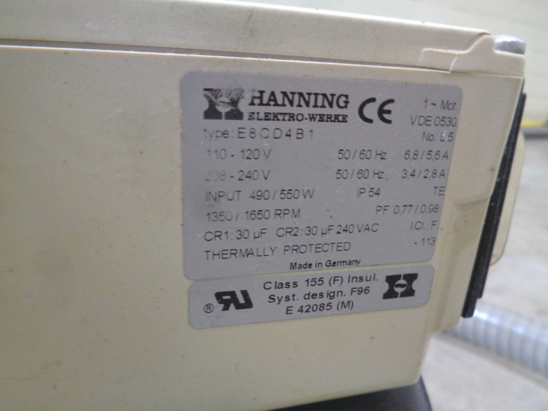 Lot 132 - Hanning Vacuum Pump
