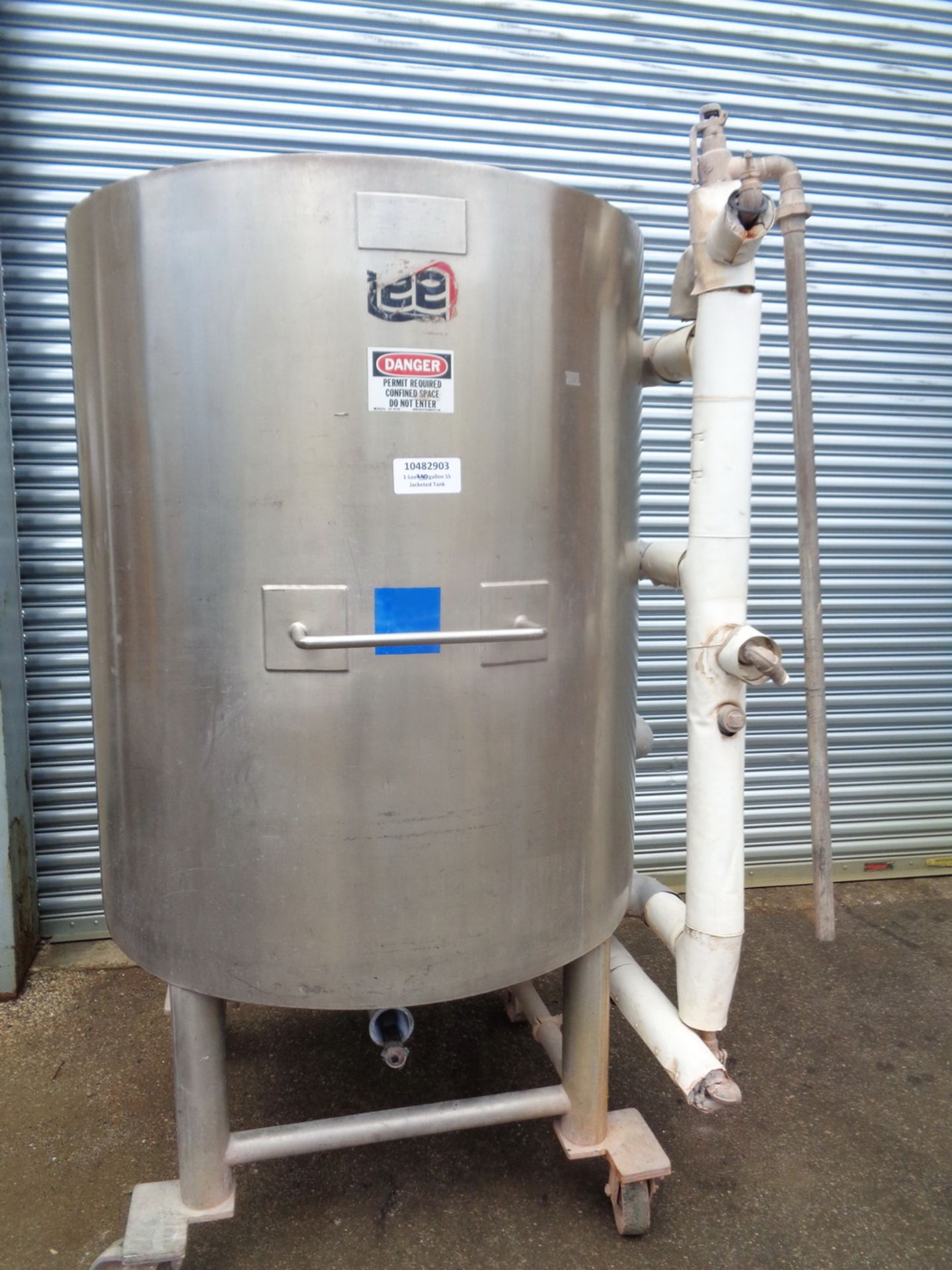 Lee 250 gallon Stainless Steel Jacketed Tank/Kettle, Model 250U - Image 2 of 9
