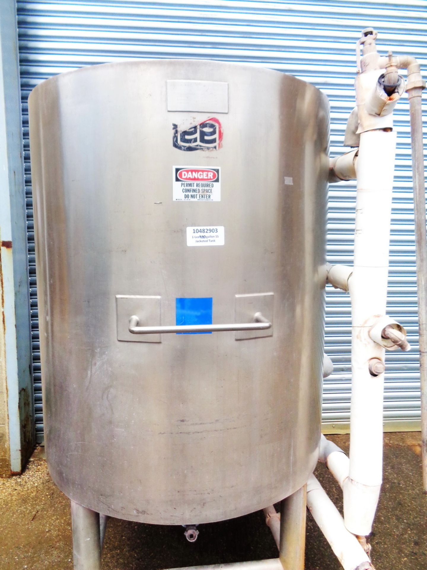 Lee 250 gallon Stainless Steel Jacketed Tank/Kettle, Model 250U - Image 3 of 9