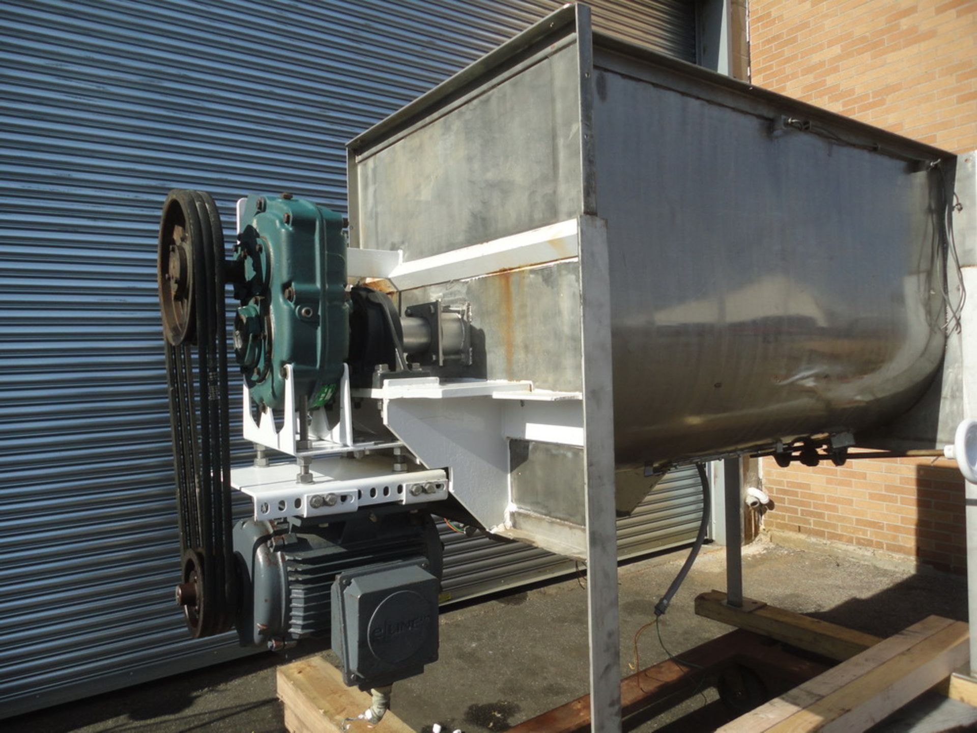 Lot 98 - Marion 35 cubic foot (working capacity) Sanitary SS Paddle Blender, with two (2) high speed choppers