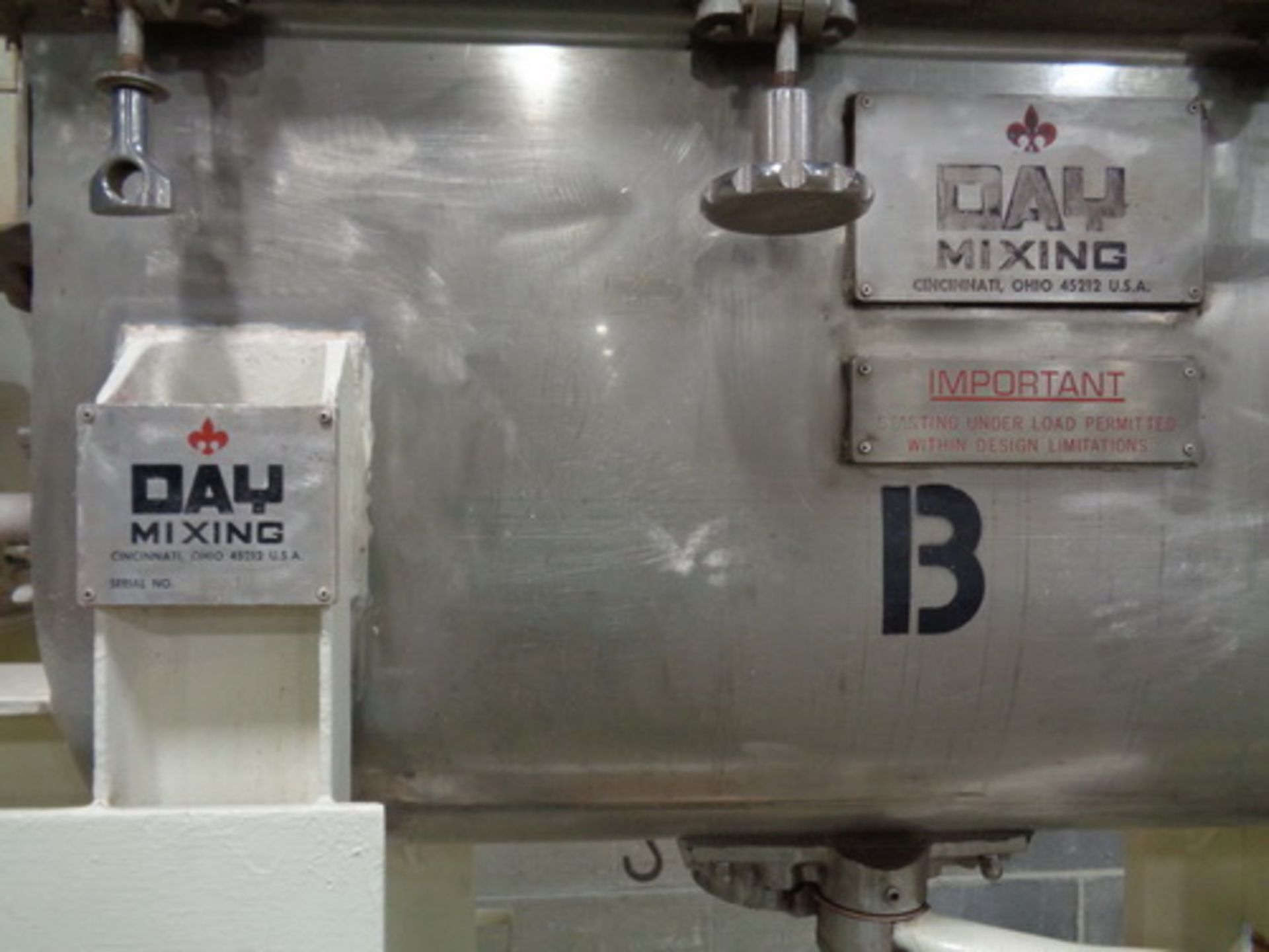 Lot 112 - JH Day 5 CUFT Stainless Steel Ribbon Blender, SN 88919