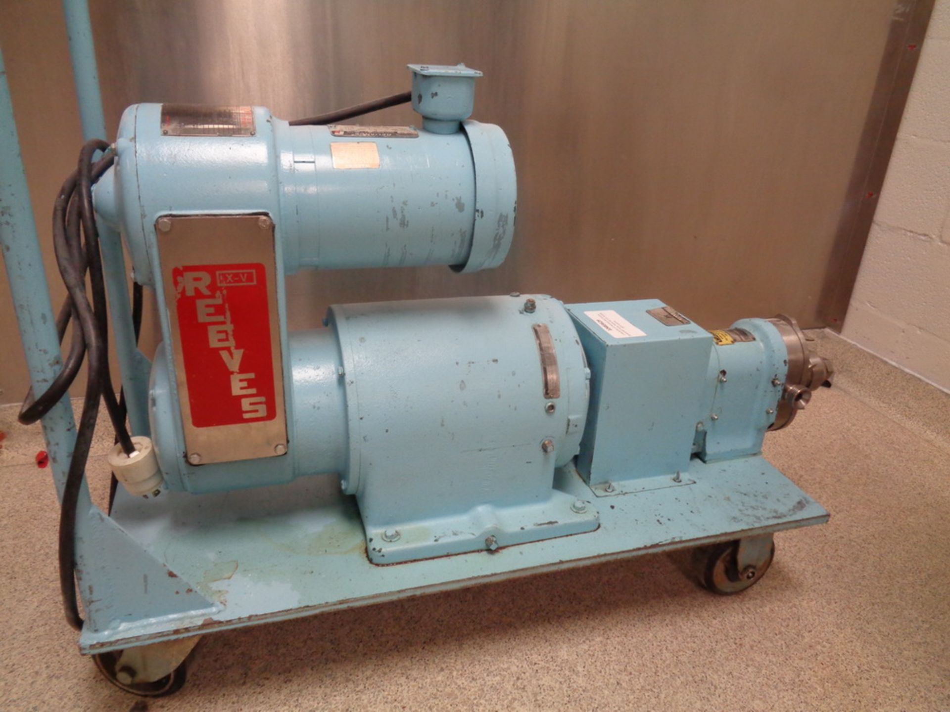Lot 130 - Waukesha 1HP Stainless Steel Positive Displacement Pump, Model DO, S/N 7S530SS