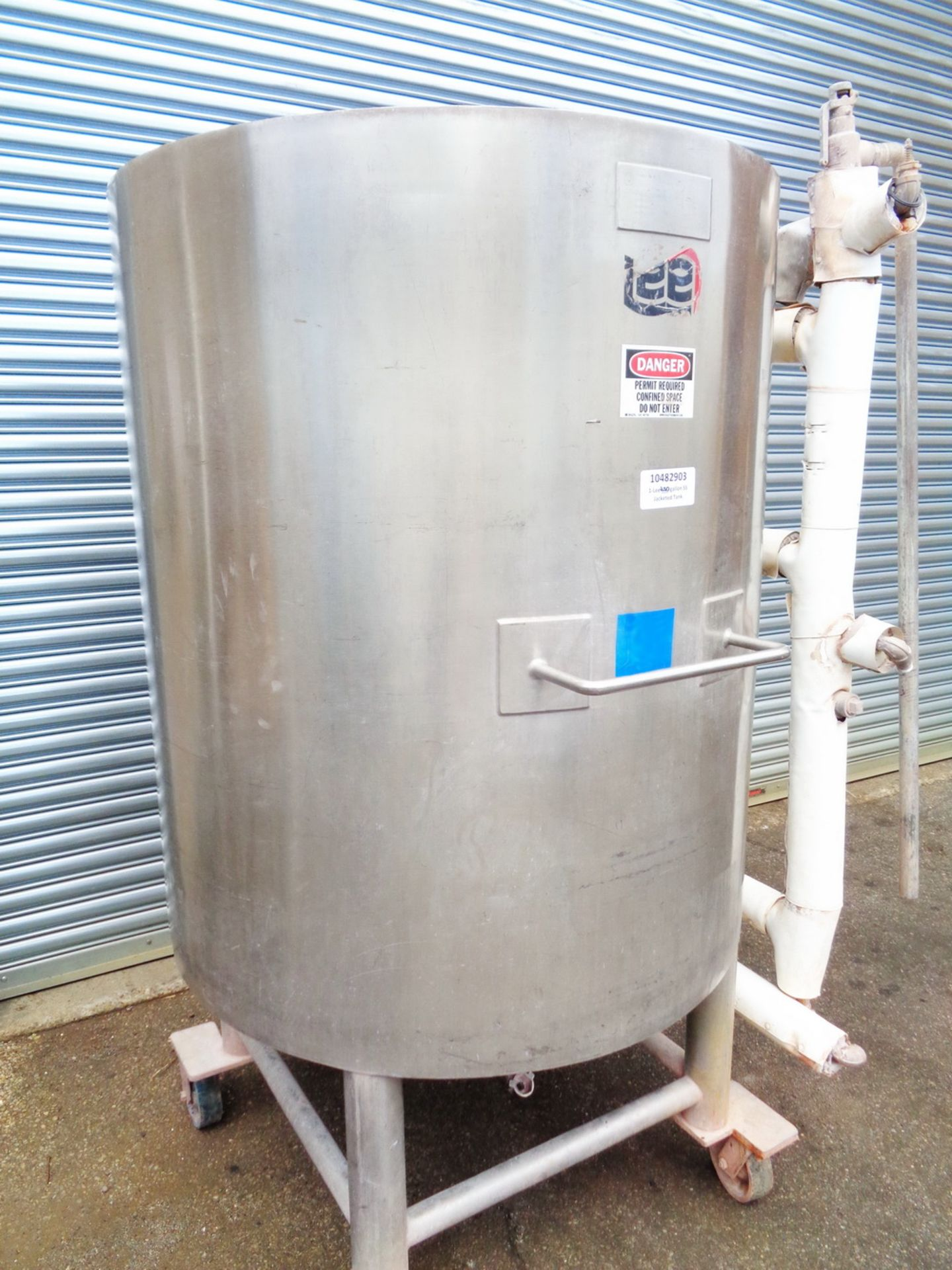 Lee 250 gallon Stainless Steel Jacketed Tank/Kettle, Model 250U - Image 4 of 9