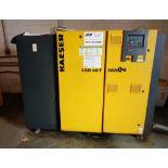 Kaeser 40HP Rotary Screw Compressor, Model ASD40T, S/N 1086, new 2014