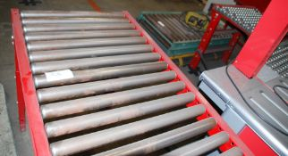 Lot of (2) sections roller conveyor