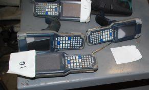 Lot of (5) Intermec Bar Code Readers, Model CK3A and Model CK3A1