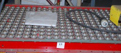 4' x 2' roller top, motorized scissor lift table