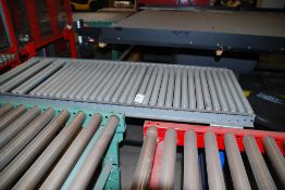 Lot of (3) sections roller conveyor