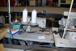 "Mitsubishi double needle ½"" sewing machine"