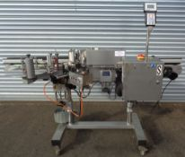 CVC Automatic Pressure Sensitive Labeler, Model 300 II, S/N 0107017, with coder, portable