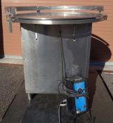 """Perry 36"""" Stainless Steel Rotary Table, Model VU 36, S/N 1467"""