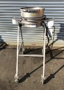 """Midwestern Industries Stainless steel 16"""" Porta Sifter, S/N 0207-5772. Portable base, single deck"""