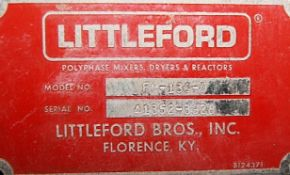 Littleford 3cf (working capacity) Jacketed SS Plowshare Mixer, Model FM130D, S/N 41352-3928