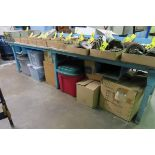 """120"""" X 30"""" WORK BENCH (NO CONTENTS)"""