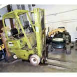 """CLARK MDL. 0500-830 PROPANE POWERED 3000# CAPACITY FORKLIFT TRUCK, WITH 130"""" REACH, 3-STAGE MAST,"""