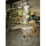 "BRIDGEPORT 1HP VERTICAL MILLING MACHINE, 9"" X 36"" TABLE, 80-2720 RPM, S/N: 12BR85473 (VISES NOT"