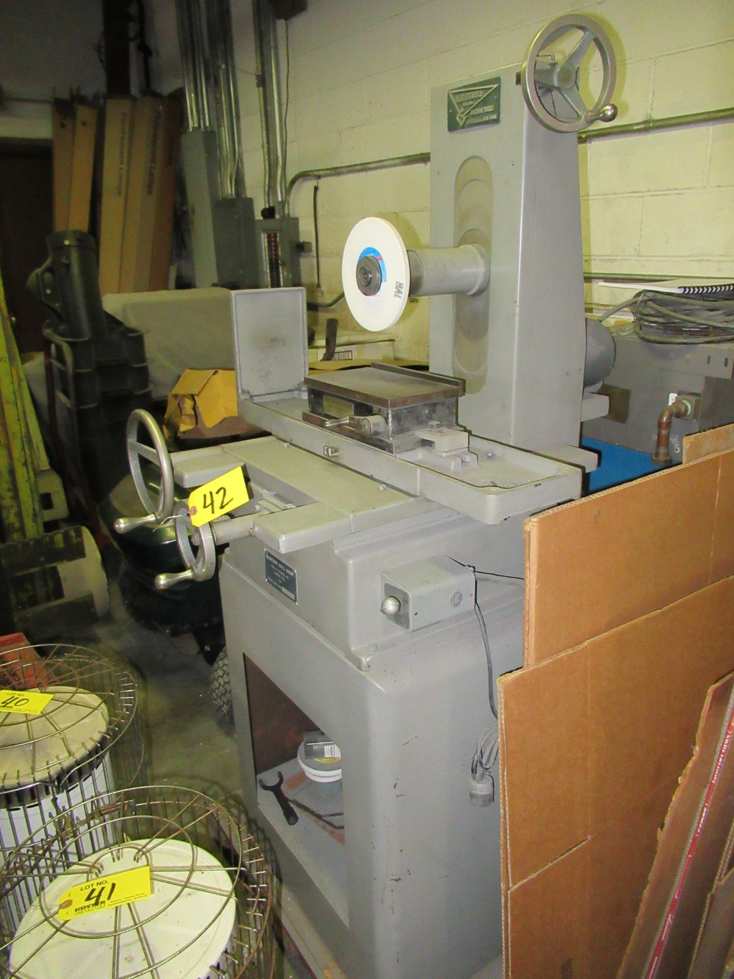 """Lot 42 - SANFORD MFG. 5"""" X 10"""" HAND FEED SURFACE GRINDER, WITH 5"""" X 10"""" BROWN & SHARPE MAGNETIC CHUCK, 1/2HP,"""