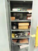 2-DOOR STEEL CABINET WITH CONTENTS