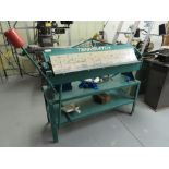 TENNSMITH MDL. HBV48 4' X 22-GAGE BENCH TYPE BOX & PAN BRAKE, WITH STAND, S/N: 19354