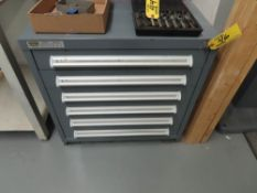 STANLEY VIDMAR 6-DRAWER CABINET WITH CONTENTS