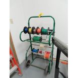 CART WITH WIRE SPOOLS