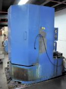 "KEMAC 41"" DIAMETER X 54"" H SINGLE BASKET TYPE ENCLOSED HOT JET SPRAY PARTS WASHER, S/N:178830"