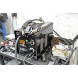 CHICAGO ELECTRIC MDL. MIG 180, 140-AMP CAPACITY PORTABLE MIG WELDER, S/N:N/A, WITH CART AND
