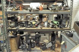 HAUSE HOLOMATIC DRILL HEADS AND MISCELLANEOUS DRILL HEADS ETC. ON (3) SHELVES, (SHELVING NOT