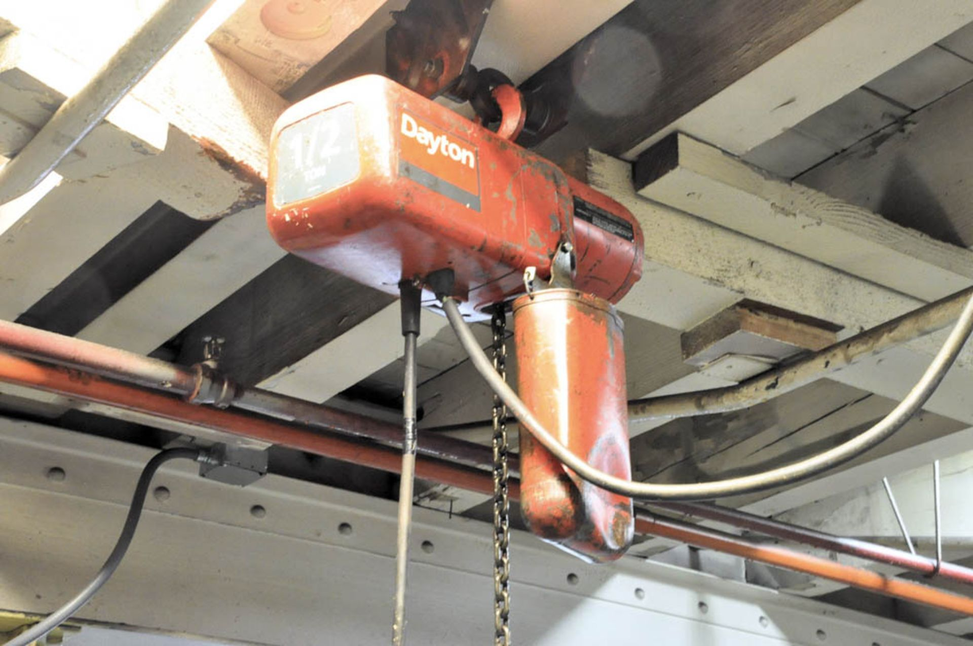 DAYTON 1/2-TON ELECTRIC HOIST WITH TROLLEY - Image 2 of 2