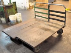 "(2) 30"" X 60"" WOOD DECKED FLAT CARTS"