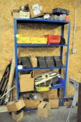 (2) SECTIONS SHELVING WITH MISCELLANEOUS CONTENTS