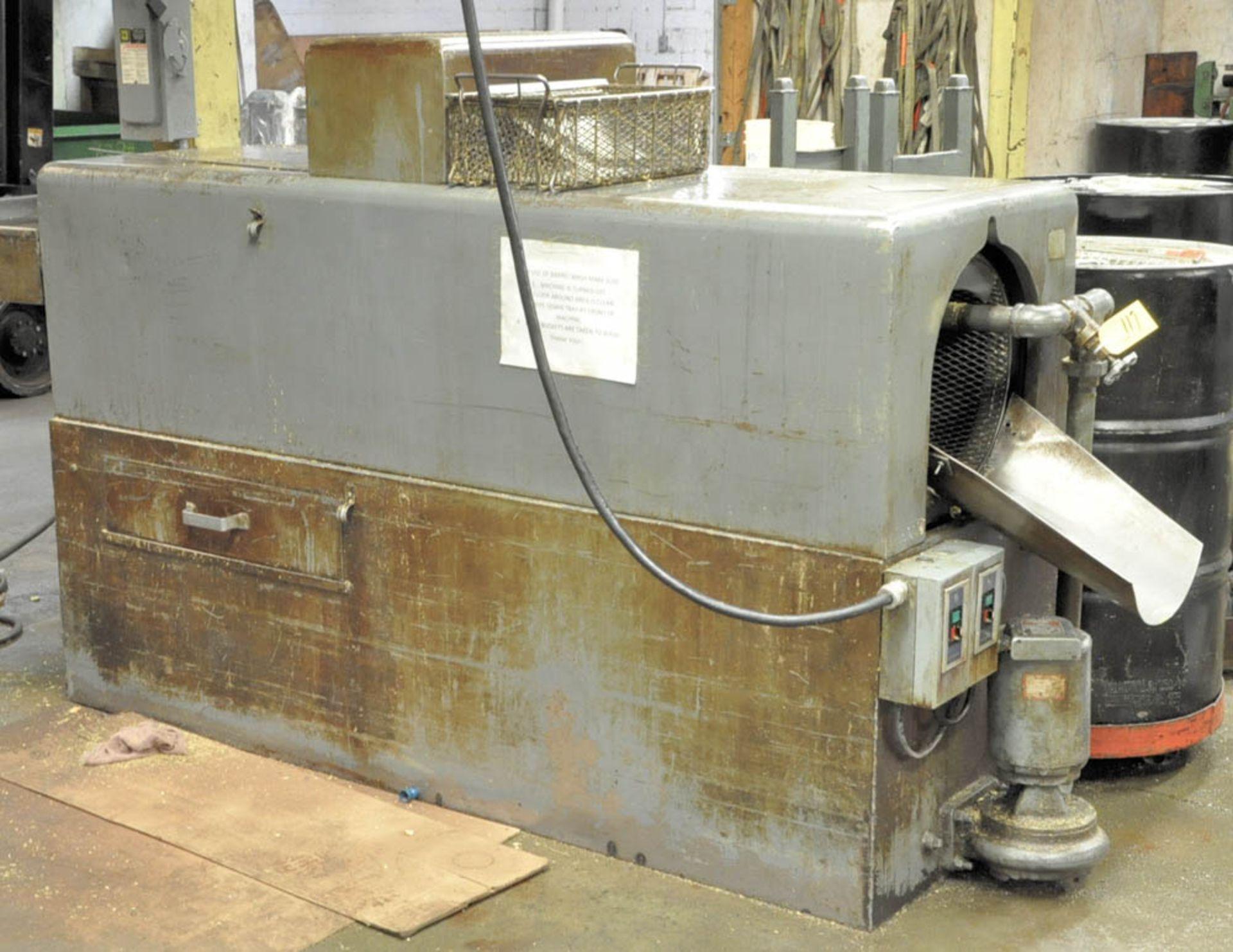 Lot 117 - ROTARY SCREW PASS THRU BARREL WASH MACHINE, S/N:N/A