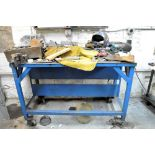 BENCH WITH VISE AND MISCELLANEOUS CONTENTS