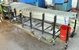 "BEST FLEX 24"" X APPROX. 12' ROLLER FLEX CONVEYOR"