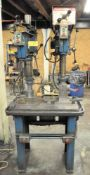 "POWERMATIC MDL. 1150A, 15"" 2-COLUMN DRILL PRESS OPERATION, 20"" X 30"" WORK SURFACE, S/N:'S 9015V004"